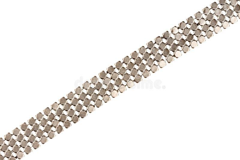 Silber überzogenes Kettendetail lizenzfreie stockbilder