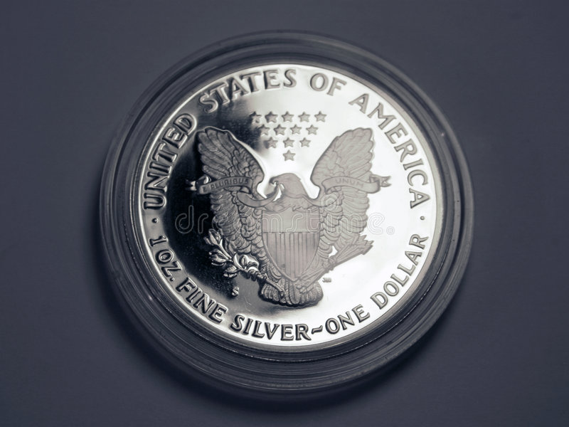 Silber ein Dollar lizenzfreie stockbilder