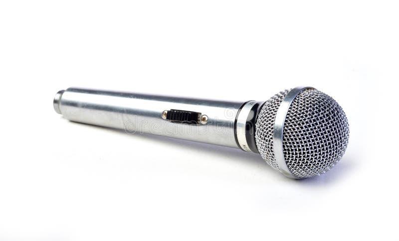 Silber mic getrennt auf Weiß lizenzfreie stockfotografie