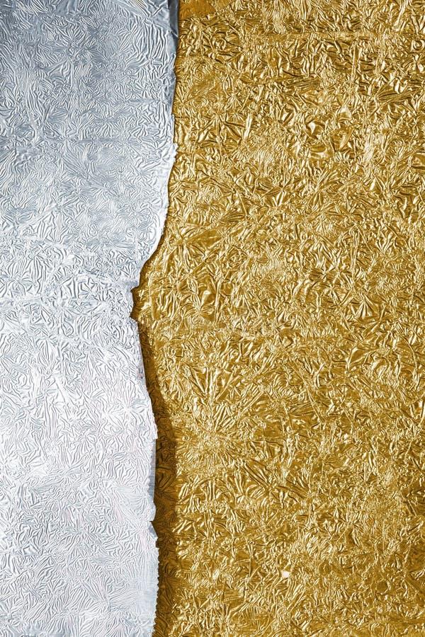 Silber- und Goldhintergrund stockbild