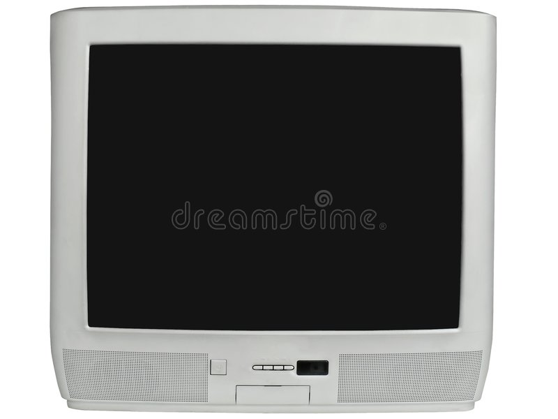 Silberfernsehapparat stockbild