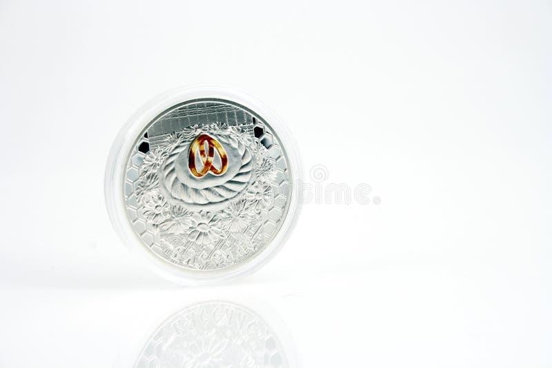Silbermünze stockfoto