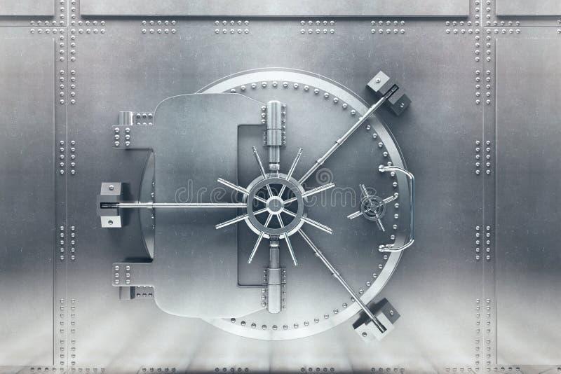 Silberne Banktresorfront stock abbildung