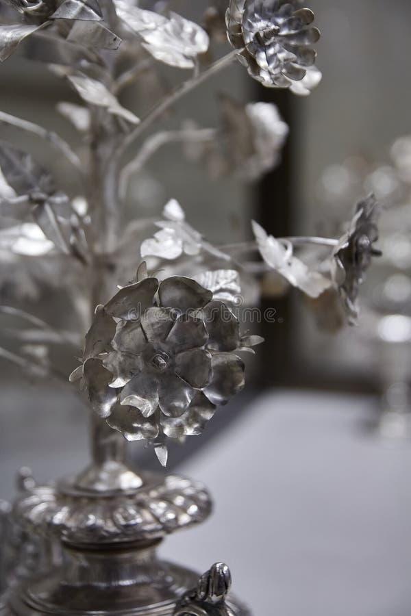 Silberne Blumen stockfotos