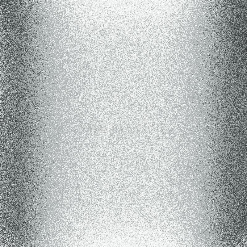 Silberne Farbglattes und glänzendes Funkelnpapier mit computererzeugtem Hintergrund des Lichtes und 3 d-Effektes und Tapetenentwu vektor abbildung