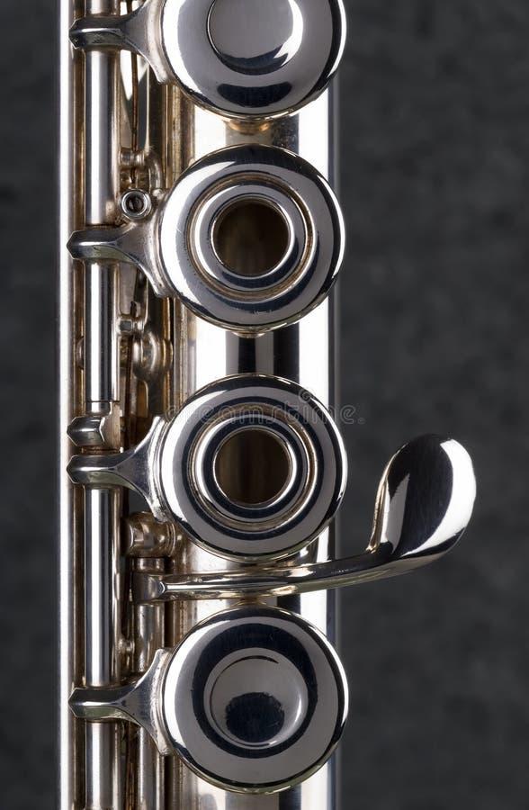 Silberne Flöte. lizenzfreie stockfotos