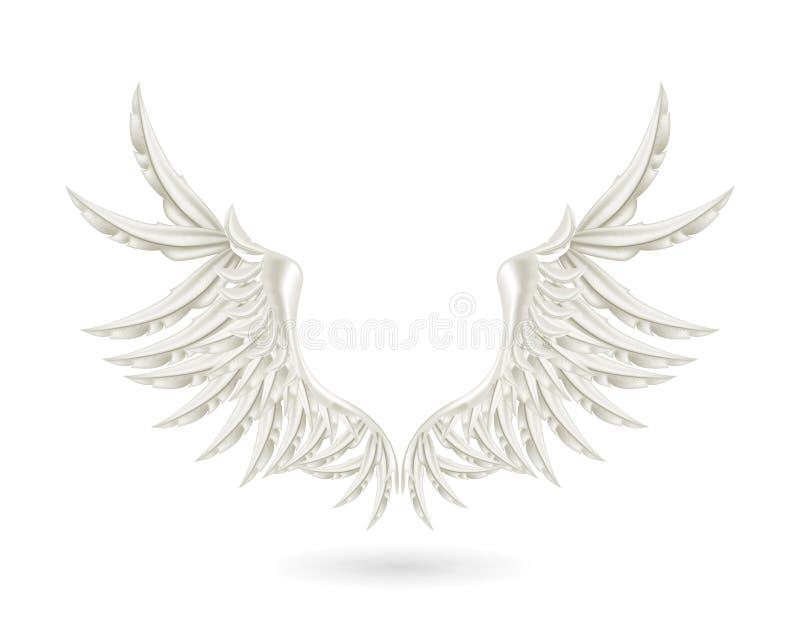 Silberne Flügel lizenzfreie abbildung