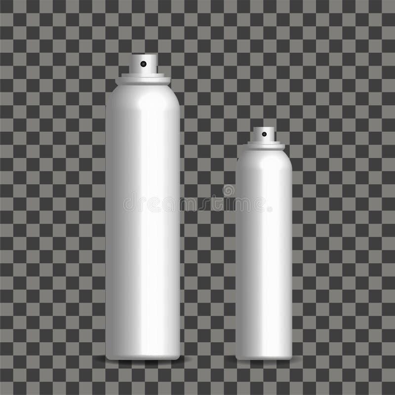 Silberne Flasche mit gewelltem Sprüher des feinen Nebels vektor abbildung