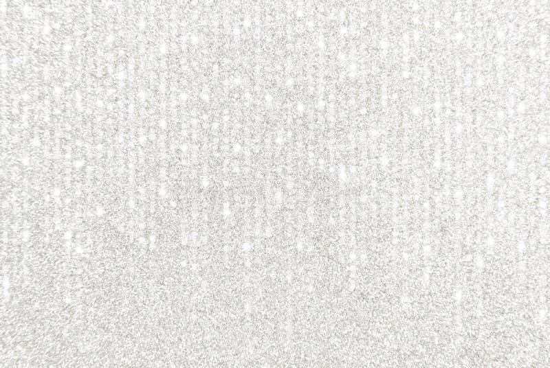 Silberne Funkeln-Grenze mit Kaskadenlichtern lizenzfreie stockfotos