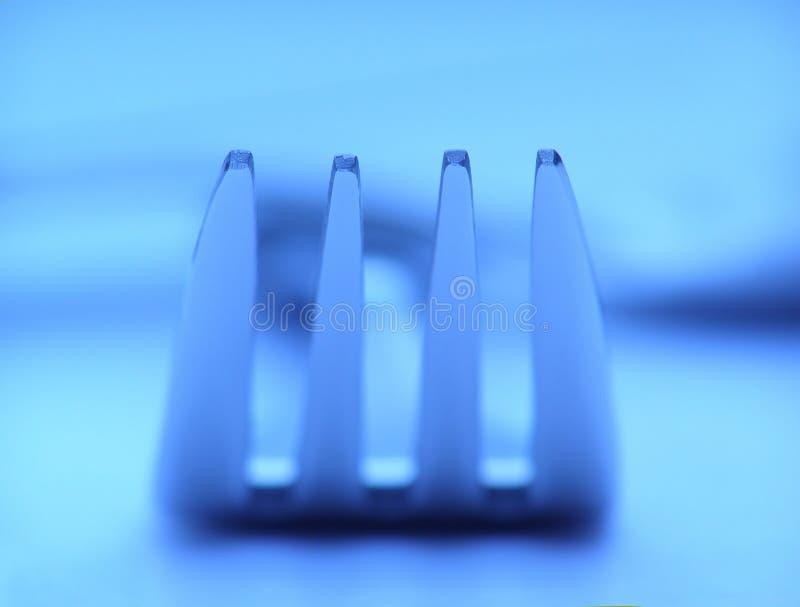 Silberne Gabel stockbild