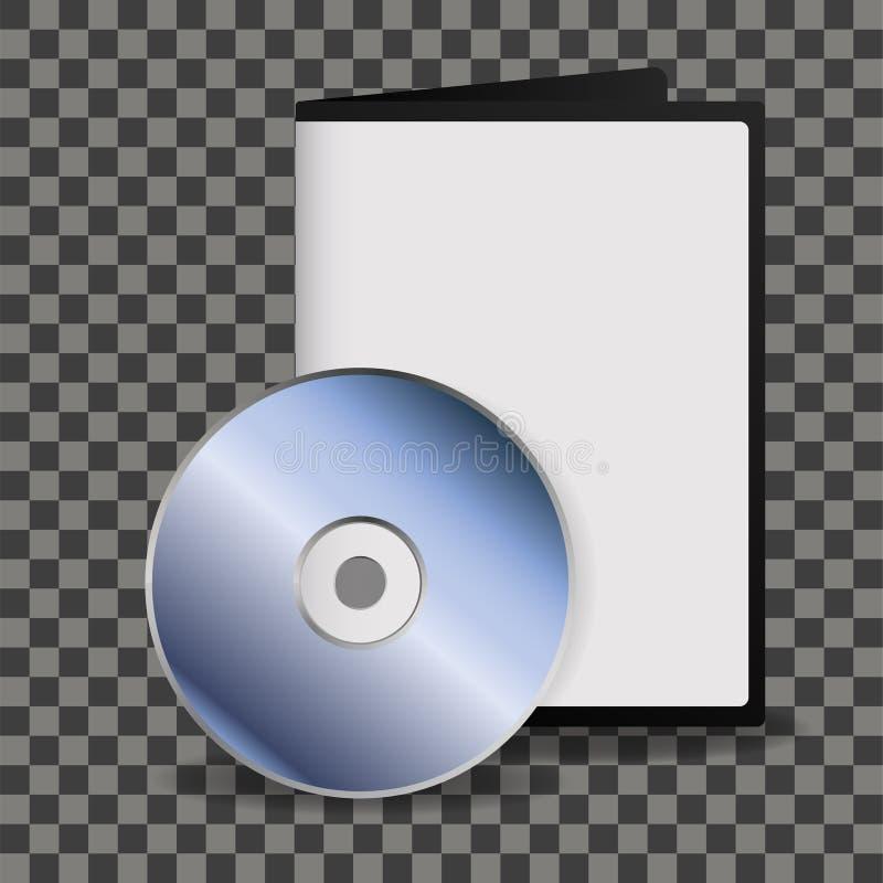 Silberne glänzende CD des freien Raumes, DVD mit Fallspott oben lizenzfreie abbildung