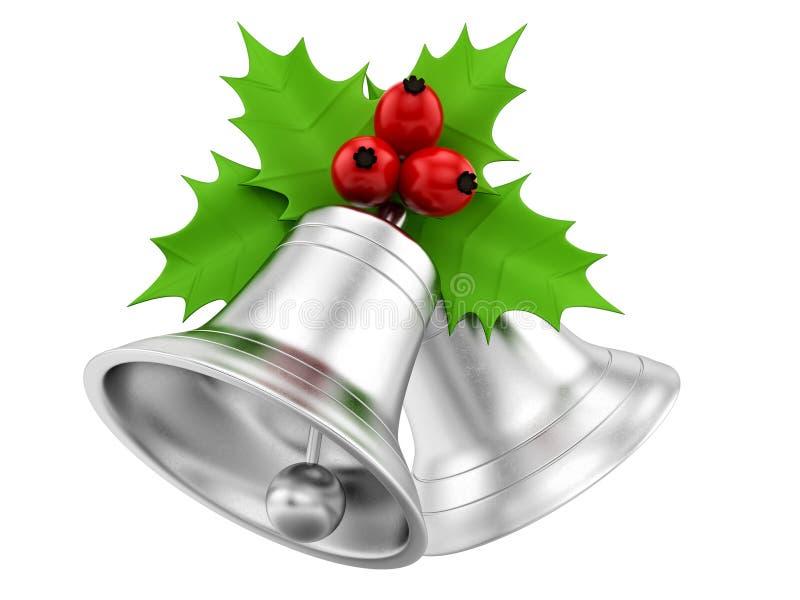 Silberne Glocken lizenzfreie abbildung
