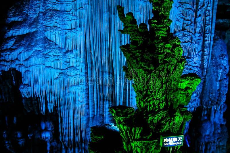 Silberne Höhle in Yangshou-Grafschaft, Guilin China stockbilder