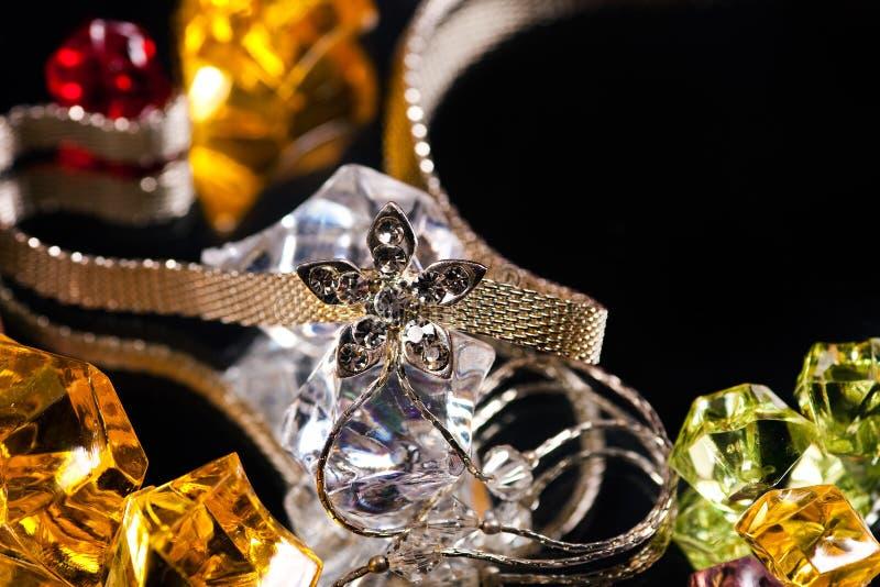 Silberne Halskette stockfotografie