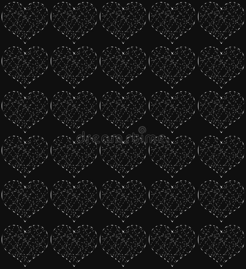 Indigoblau Neonsterne Periodisches Muster 11
