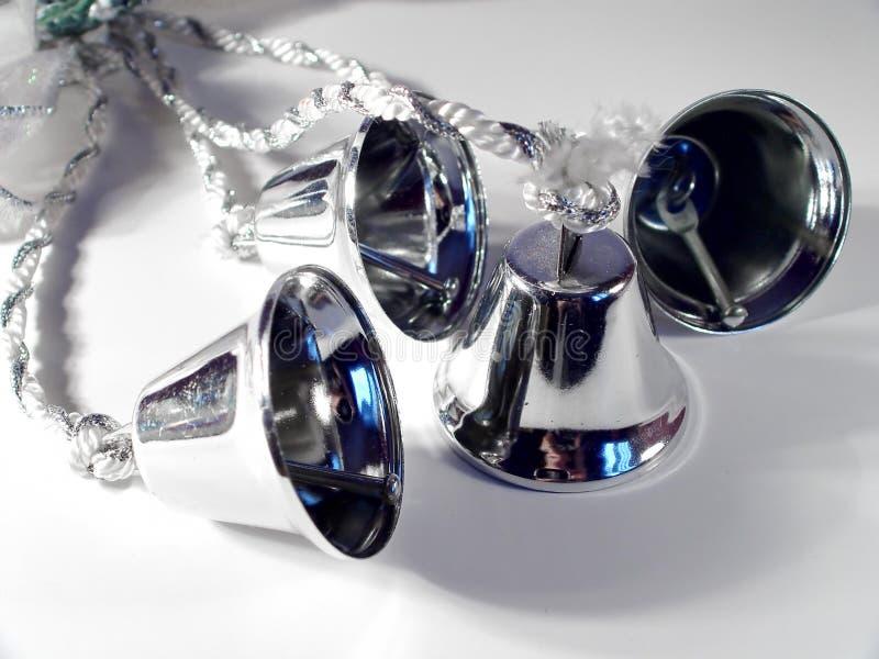 Silberne Hochzeit Bell Lizenzfreie Stockfotografie