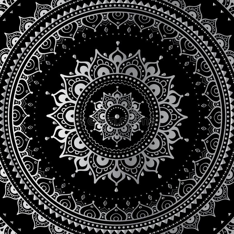 Silberne Mandala lizenzfreie abbildung