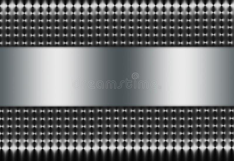 Silberne Masche mit silbernem Einsatz lizenzfreie stockfotos
