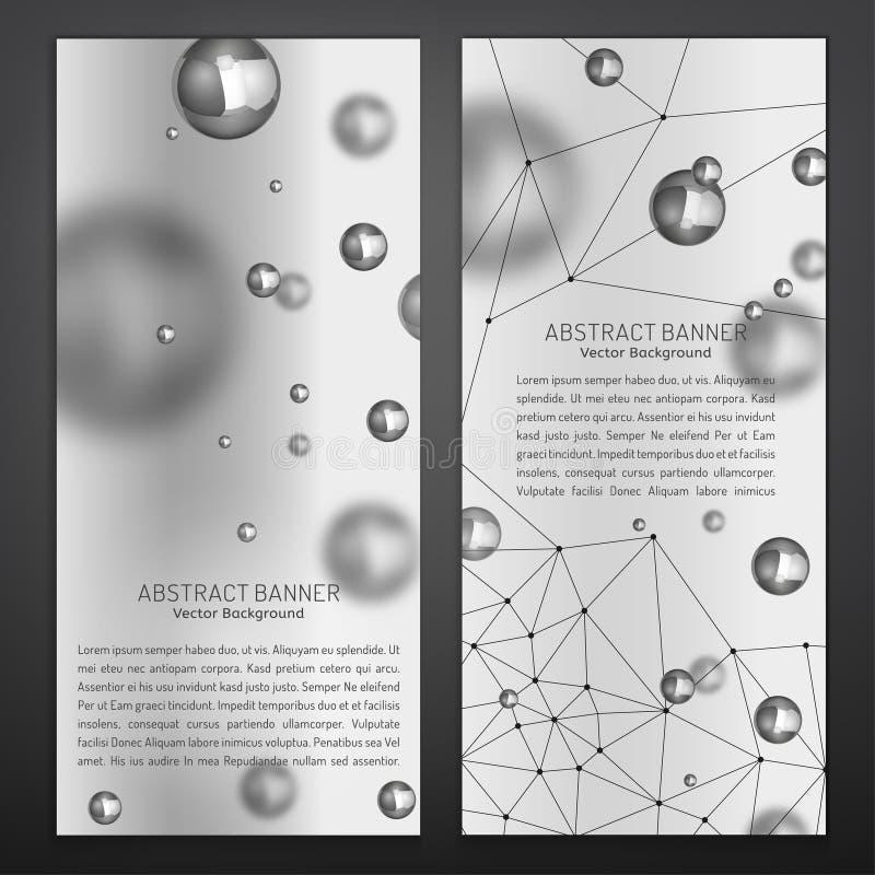 Silberne Partikel-Fahnen lizenzfreie abbildung