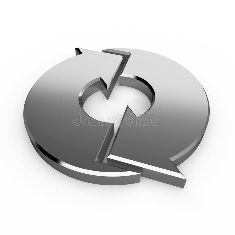 Silberne Prozesspfeile lizenzfreie abbildung