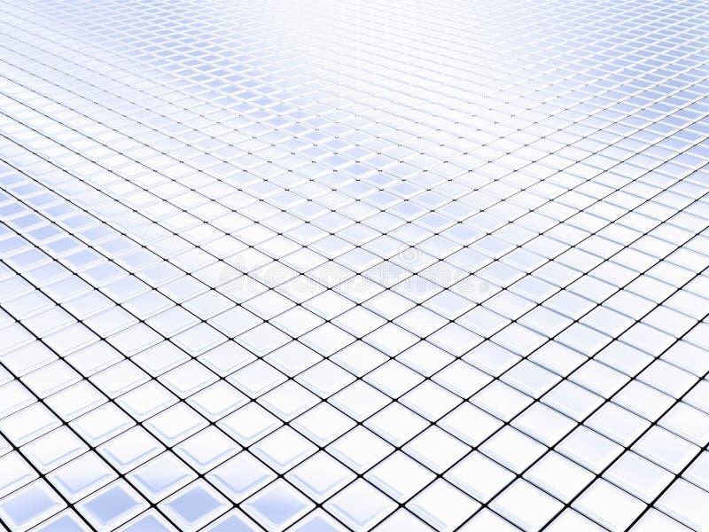 Silberne Quadrate lizenzfreie abbildung