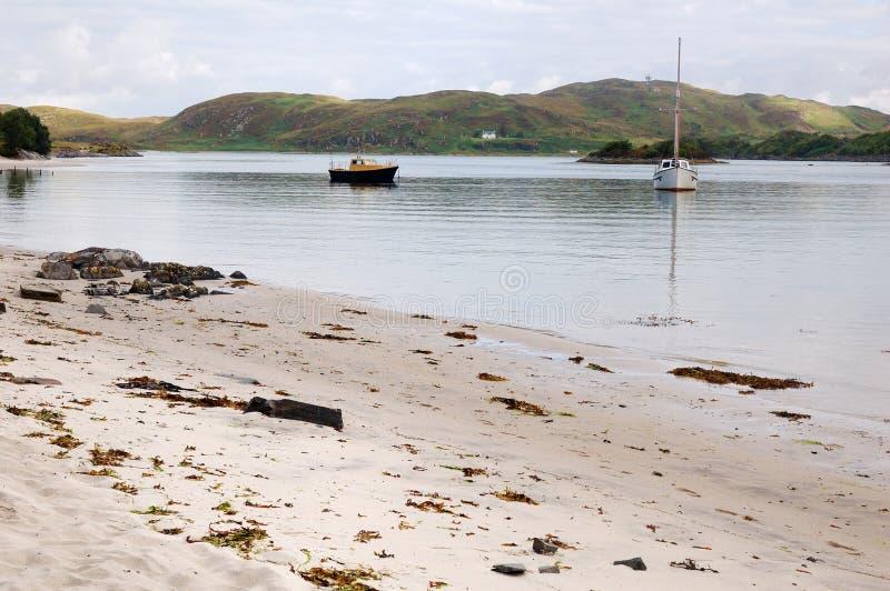 Silberne Sande von Morar, Schottland stockfoto
