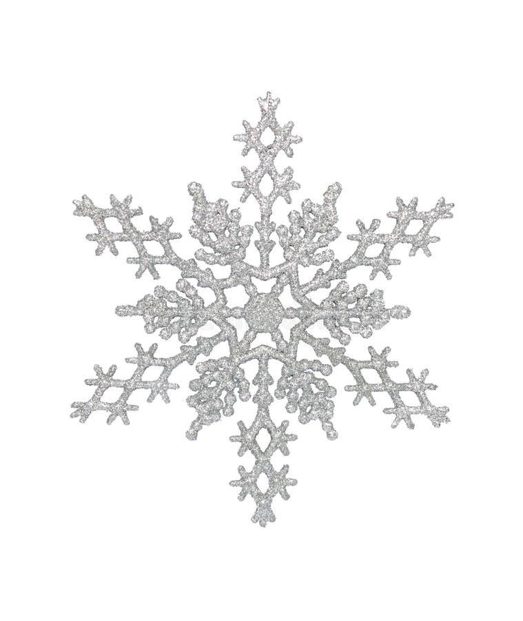 Silberne Schneeflocke lizenzfreies stockfoto