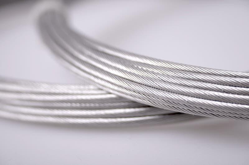 Silberne Seilzüge lizenzfreies stockfoto