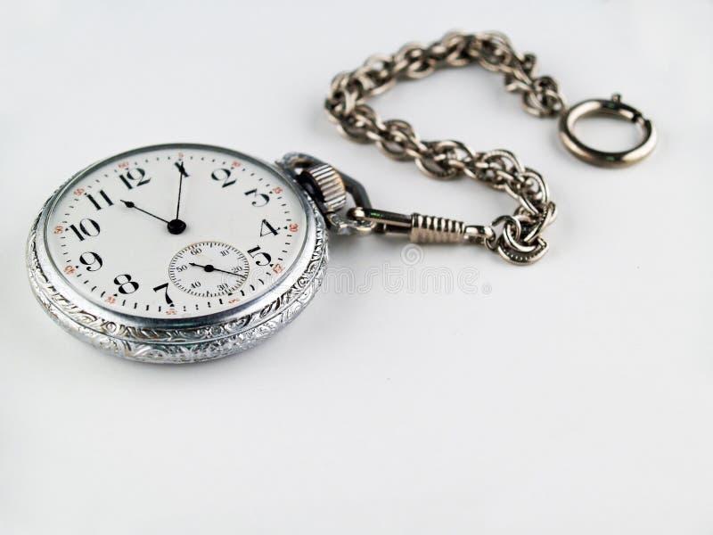 Silberne Taschen-Uhr stockbild