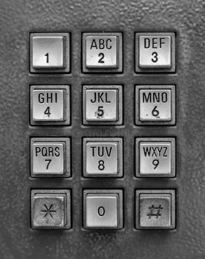 Silberne Telefonschlüsselauflage stockfoto