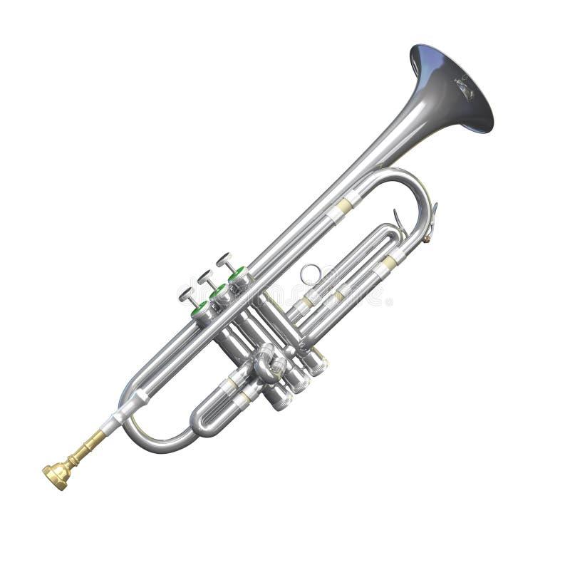 Silberne Trompete lokalisiert vektor abbildung