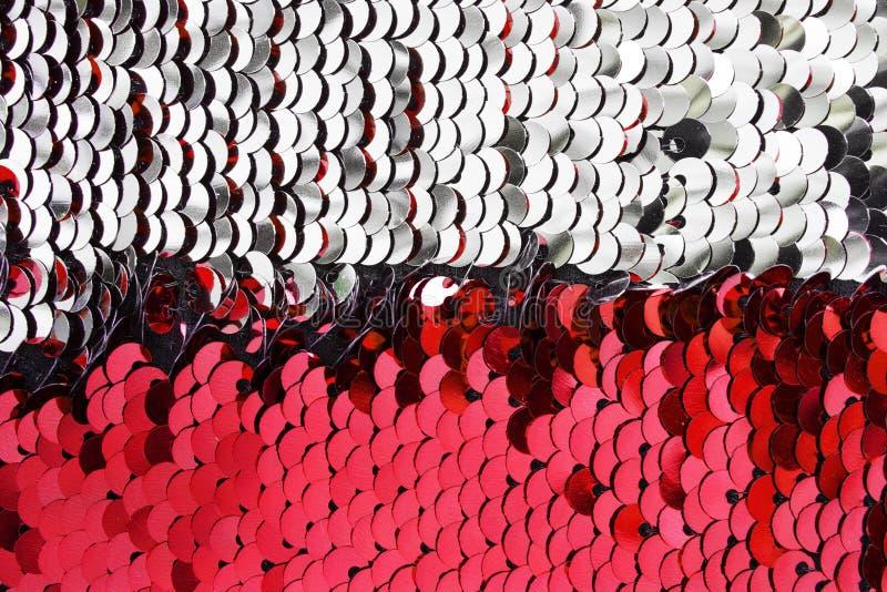 Silberne und rosa Paillette lizenzfreies stockfoto