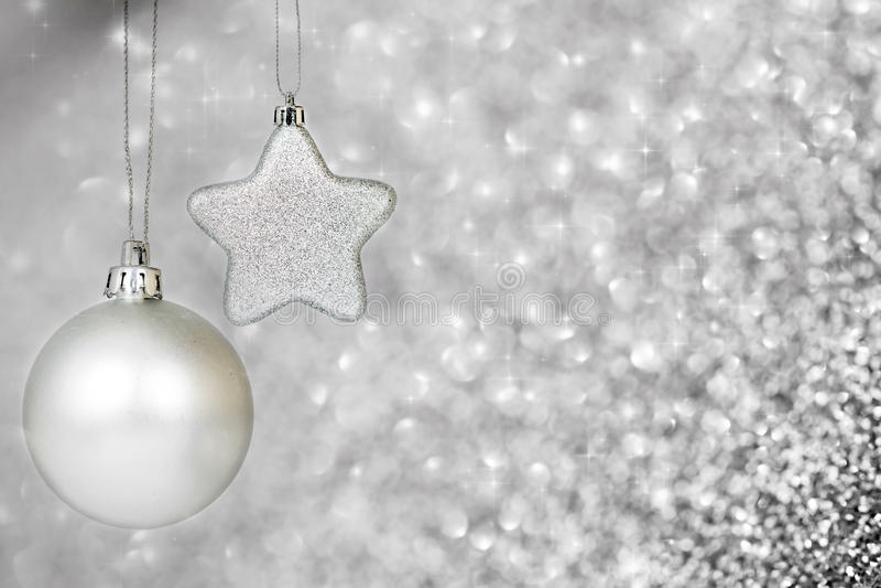 Download Silberne Weihnachtsdekoration Stockbild - Bild von hintergrund, fühler: 47100081