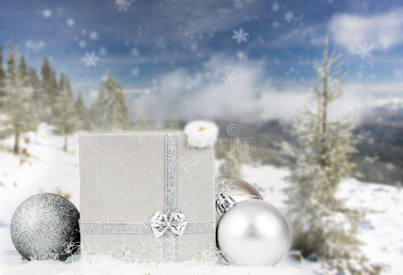 Download Silberne Weihnachtsdekoration Stockbild - Bild von magie, dekorativ: 47100233