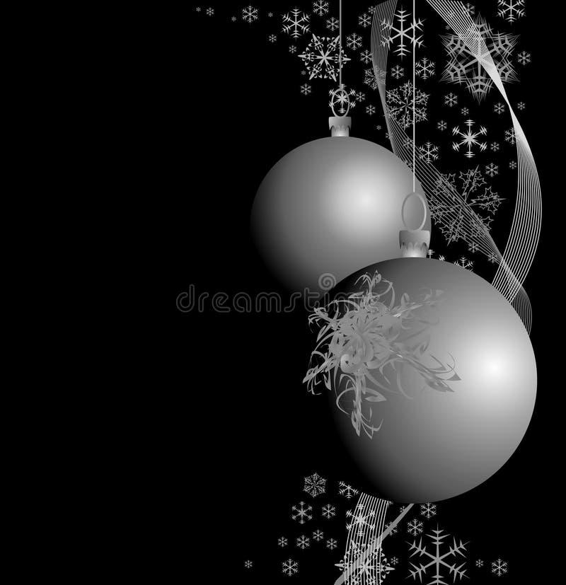 Silberne Weihnachtsfühler stock abbildung