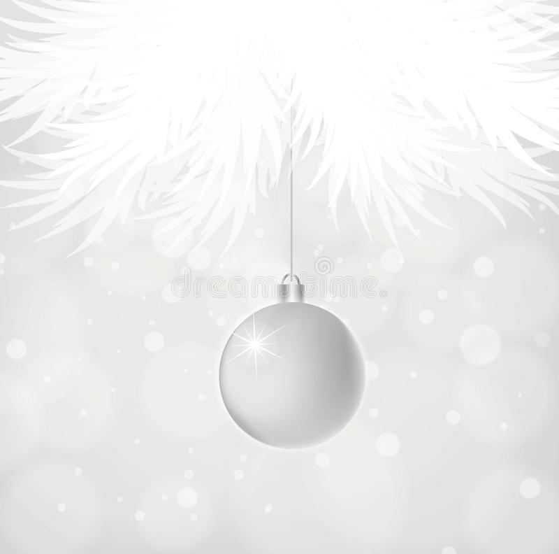 Silberne Weihnachtskugel vektor abbildung