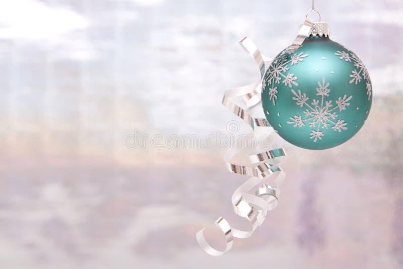 Silberne Weihnachtsverzierung stockfotografie