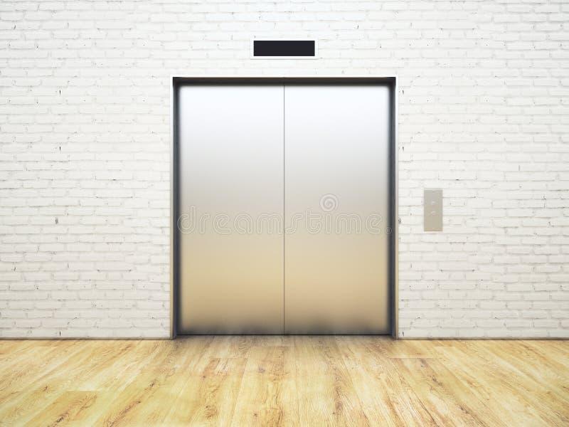 Silberner Aufzug vektor abbildung