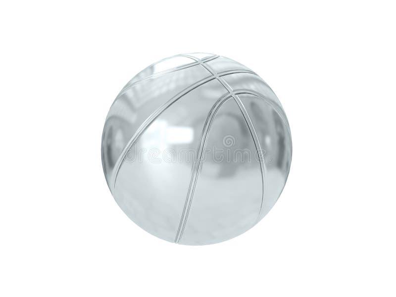 Silberner Ball Wiedergabe 3d stockfotografie
