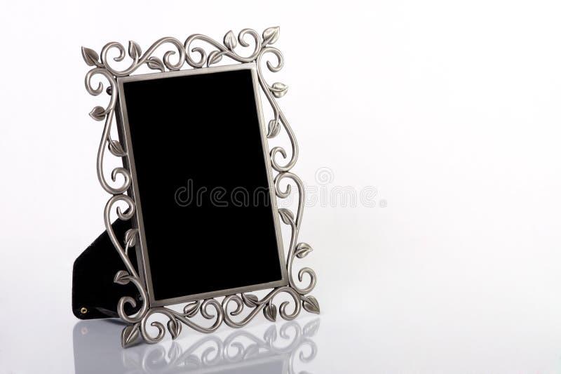 Silberner Bilderrahmen stockbild