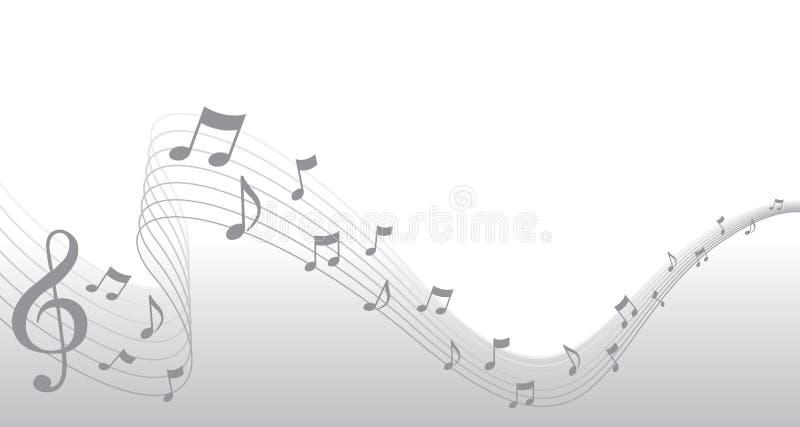 Silberner Blatt-Musik-Seiten-Rand vektor abbildung