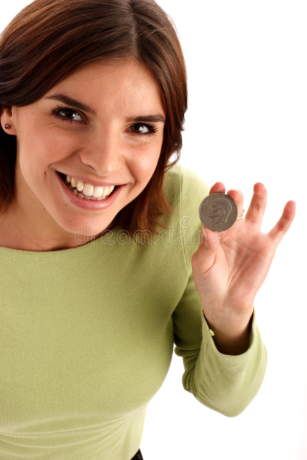 Silberner Dollar lizenzfreie stockfotos