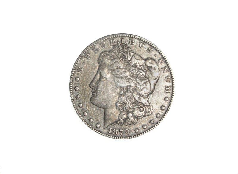 Silberner Dollar Stockfotografie