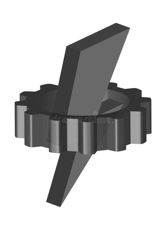 Silberner Gang- und Silberblitz stock abbildung