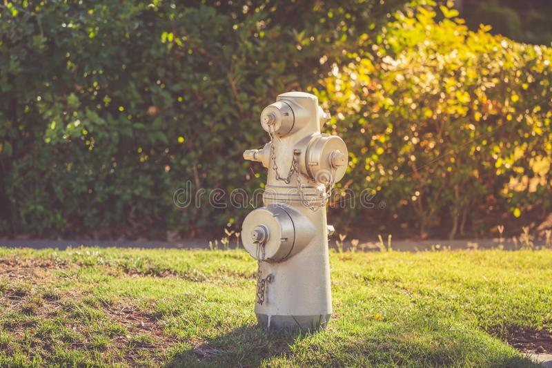 Silberner Hydrant von Beverly Hills stockbilder
