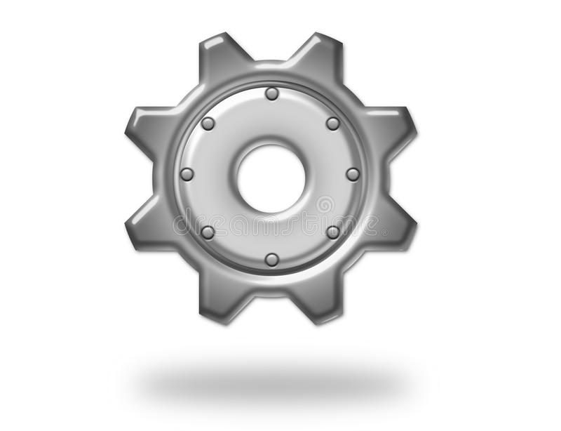Silberner metallischer Gang stock abbildung