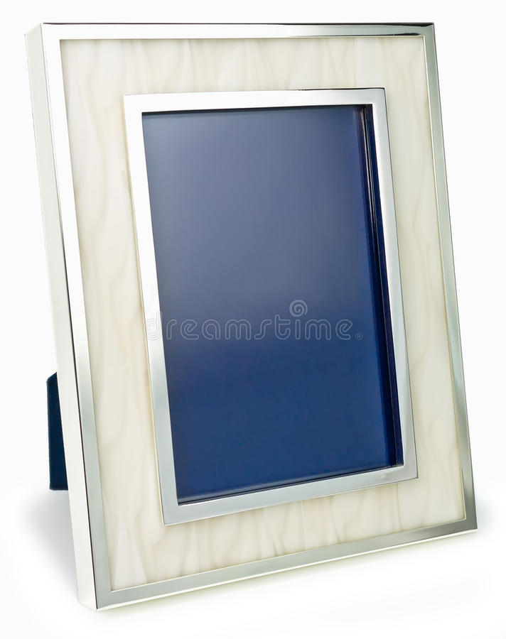 Silberner Metallrahmen stockfotos