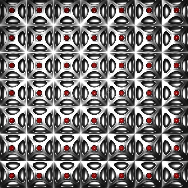 Silberner Musterluxuxhintergrund lizenzfreie abbildung