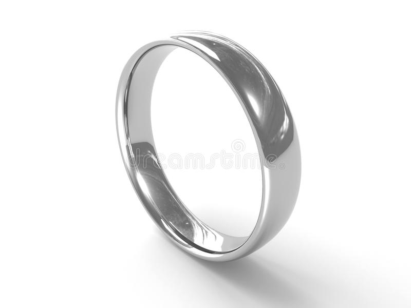 Silberner Ring lizenzfreie abbildung