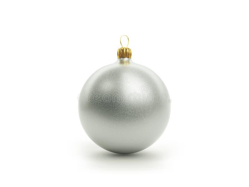 Silberner Weihnachtsball stockfotos